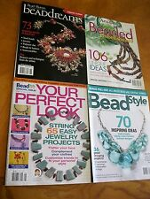 Bead dreams Beading arts and crafts Jewelry lot 4  back issues magazines