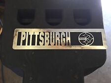 Plasma Cut Steelers Plaque metal Sign mancave Garage/Wall Decor