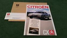 June 1988 / 1989 Citroen CX inc GTi TURBO 2 + PRESTIGE & BREAK - GERMAN BROCHURE