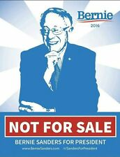 "Bernie Sanders Not For Sale ""Bernie Blue"" shirt-all proceeds go to campaign"