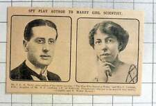 1915 Mr J Terry, Spy Play Author To Marry Girls Scientist Miss C Leetham