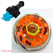 BB-59 PHOENIX BEYBLADE Masters Fusion Metal+GRIP+BLUE SPIN LAUNCHER