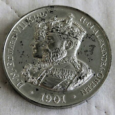 1901 EDWARD VII & QUEEN ALEXANDRA 50mm ACCESSION MEDAL - by af