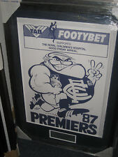 1987 CARLTON PREMIERS WEG POSTER FRAMED WITH ENGRAVED PLAQUE - BRAND NEW!!!