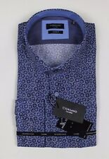 Giordano - Blue Spiral Modern Fit Shirt - Size XL - *NEW WITH TAGS* RRP £80