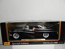 1/18 MAISTO 1956 BLACK CHRYSLER 300B