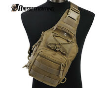 1000D Molle Tactical Utility 3 Ways Should Sling Pouch Backpack-TAN A