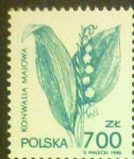 POLAND STAMPS MNH Fi3177 Sc3026 Mi3325 - Therapeutic plants, 1991, clean