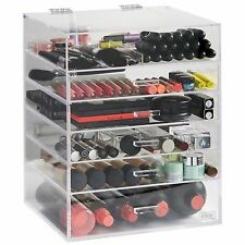 Beautify Large Clear Acrylic Cosmetic Makeup Jewelry Storage Cube Organizer Case
