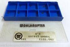 9 Wendeplatten inserts 097833 WHW01 E101.562 von Wohlhaupter Neu H7131