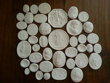 37 Grand Tour Cameos Intaglios Gems Medallions plaster seals Tassies coins