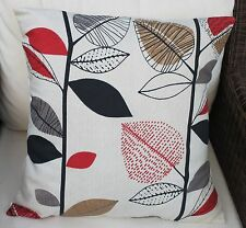 "AUTUMN LEAVES - BERRY 16"" COTTON CUSHION COVER - PRESTIGIOUS"