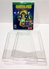 5 Box Protectors For XBOX ONE Video Games   Custom Made Clear Cases / Sleeves