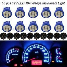 10pcs T10 Blue Instrument Cluster Dash LED Bulb Light Twist Lock Socket PC194