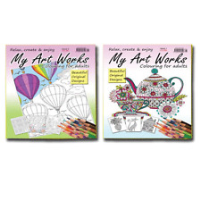 MY ART WORKS _ RELAX, CREATE & ENJOY -_COLOURING FOR ADULTS -_2 BOOK SET