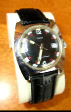 Vintage Timex Water Resistant Mens Mechanical Watch, New Leather band