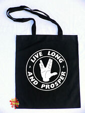 LIVE LONG AND PROSPER spock star trek nimoy cotton shopper Tote Bag