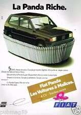 Publicité advertising 1983 Fiat panda Super