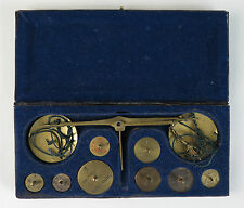 French coin pan scales and weights (Louis d'or, ducat) c1810