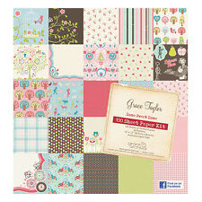 "GRACE TAYLOR SCRAPBOOK PAPER 12"" x 12"" HOME SWEET HOME 25 SHEETS. GS2697"