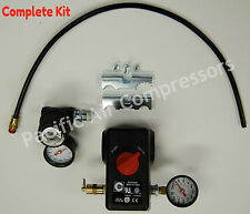 CONDOR MDR11/11 EA PRESSURE SWITCH KIT 100 PSI ON & 125 PSI OFF 4 PORT W/ON/OFF