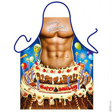 Surprise Birthday cake sexy man kitchen apron funny gag gift bday party ITATI
