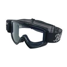 Biltwell Moto Goggle, Motorradbrille, schwarz, für Jethelme / Antibeschlag!