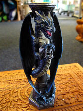 DRAGON CANDLE HOLDER Midnight Keeper GOTHIC Candlestick Fantasy PAGAN