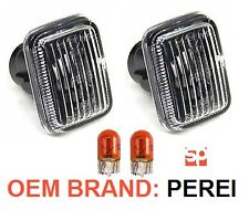 OEM Defender Discovery Range Rover P38 Clear Side Indicator Lamp x2 XGB000020