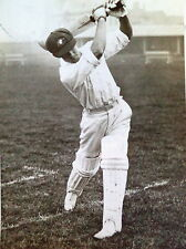 BILL BROWN AUSTRALIA  BATTING LORD'S 1934 PHOTOGRAPH
