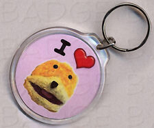 I LOVE FLAT ERIC ROUND KEYRING - SO COOL!
