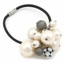 Zest Pearl Bead Cluster Hair Band with Diamante Gems