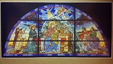 "Nativity Scene Stained Glass Poster Art GIGANTIC 48"" x 24""  Christmas Jesus Mary"