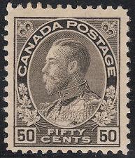 Canada 20c KGV Admiral silver black, Scott 120i, F-VF MH, catalogue - $275