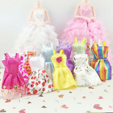 5 Pcs Mini Girl Baby Dolls Sleeveless Dress Skirt Princess Accessories Toys Gift