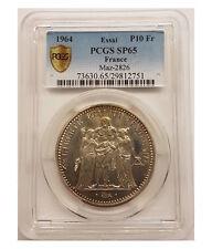 ESSAI 10 Francs Hercule 1964 PCGS MS65 - FDC 65 - 3500 exemplaires