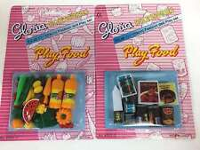 GLORIA DOLL HOUSE FURNITURE Set of 2 Play Food  Accessories set BARBIE SIZE