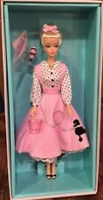 BFC Exclusive Soda Shop Barbie Pink Poodle Skirt Petticoat Vintage Look Gold NEW