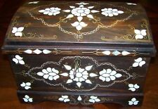 "CLEARANCE 15""x10""x10"" Handmade Turkish Mother Of Pearl Wood Box Chest"