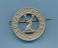 LOVAT'S SCOUTS.WHITE METAL ARMY CAP BADGE
