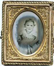 1/9 PLATE AMBROTYPE PHOTO PORTRAIT OF CUTE LITTLE GIRL