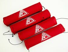 """Canoe Roof Rack Pads - Set of 4 x 12"""" Pads to Protect Canoe in Transit"""