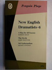 NEW ENGLISH DRAMATISTS 6.R BOLT.J WHITING.H LIVINGS.PENGUIN PLAYS 63 PL45,NR MT