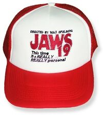 Back to the Future Embroidered Trucker Hat Jaws 19 Film Logo Cap Delorean Marty