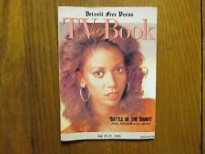 July 25-1993 Detroit Free Press TV Book/Magaz(HOLLY ROBINSON/BATTLE OF THE BANDS