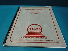 USED FOR THE ATLAS V SERIES CONTOUR SAW OWNER'S MANUAL