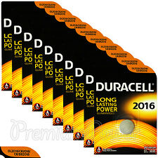 10 x Duracell Lithium Coin Cell batteries CR2016 DL2016 BR2016 3V EXP:2025