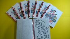8 PAW PATROL Mini Coloring Books - Birthday Party Favor