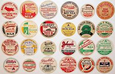 Vintage milk bottle caps LOT OF 24 DIFFERENT originals #24 unused new old stock