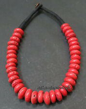 N78 Fashion collectible women Tibetan Coral glass beads beautiful Necklace Nepal